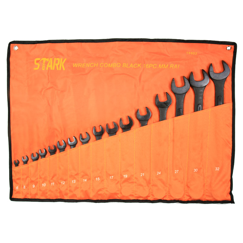 16PC MM BLACK WRENCH SET