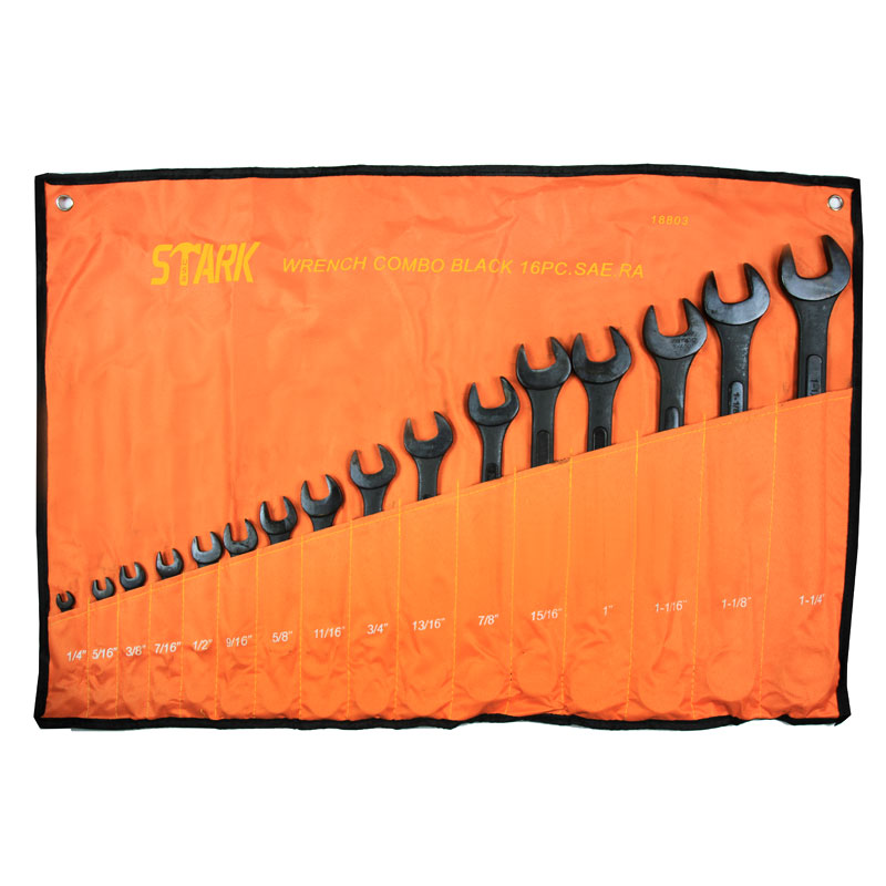 16PC SAE BLACK WRENCH SET