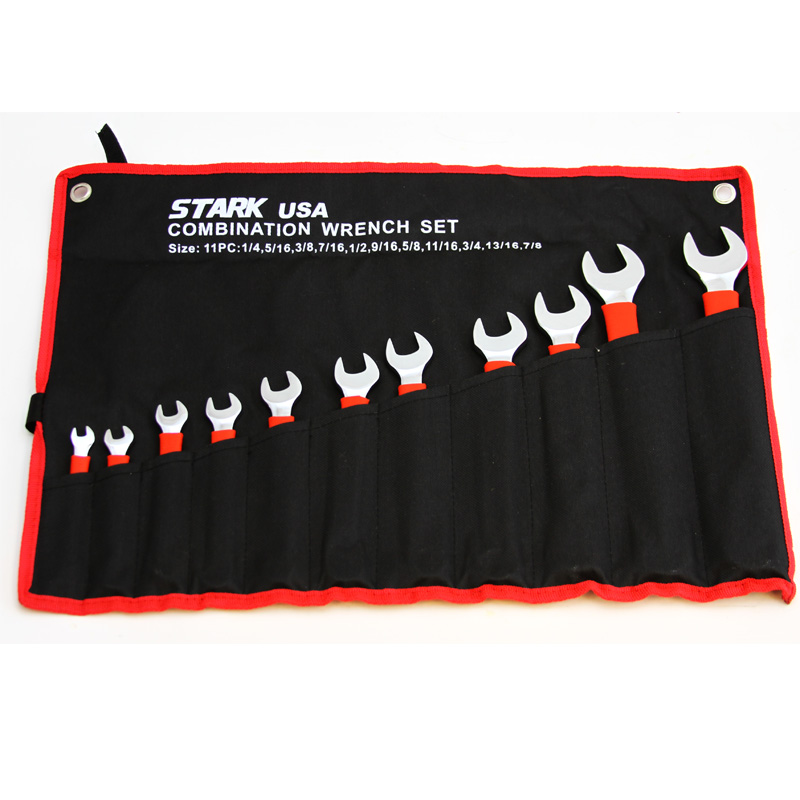 11PC SAE SOFT GRIP WRENCH SET