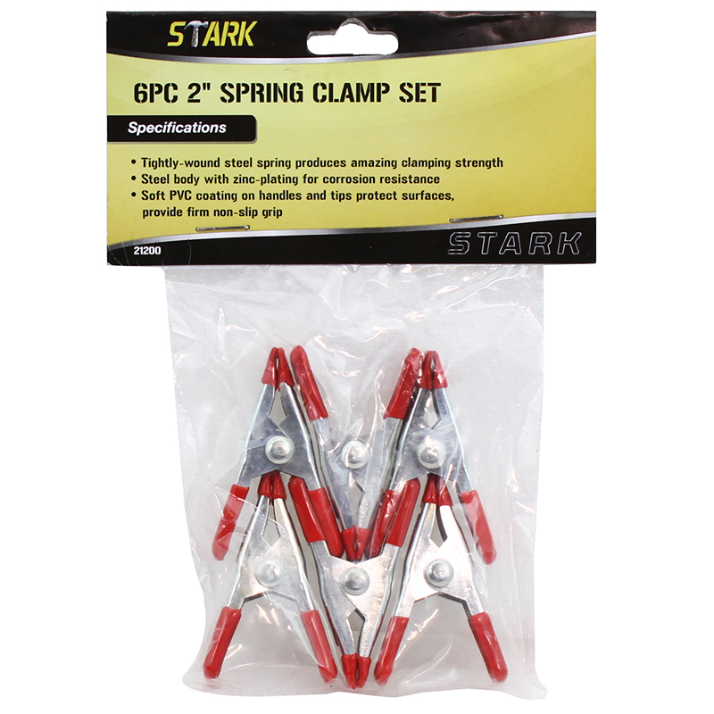 "2"" 6PC SPRING CLAMP SET"