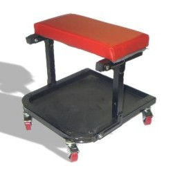 Foldable Roller Seat w/ Tool Tray