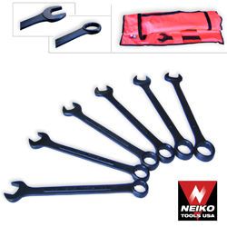 6pcs Black-Oxide Finish Jumbo Wrench Set, MM