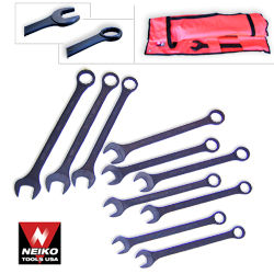 10pcs Jumbo Combo Wrench Set, SAE