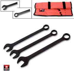 14pcs Black Oxide Finish Wrench Combo, MM