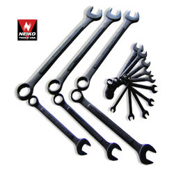 16pcs Raised Panel Wrench Combo, MM