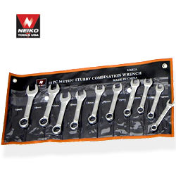 10pcs Stubby Combo Wrench Set, SAE